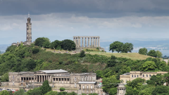 carlton hill, edinburgh - edinburgh scotland stock videos & royalty-free footage