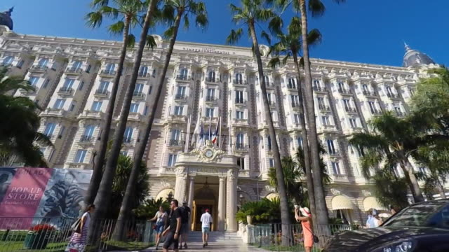 Carlton Hotel,The Croisette. Slow motion side POV.