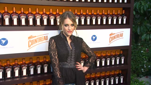 carly chaikin at cointreau and dita von teese launch cointreau poolside soirees in celebration of the beverly hills hotel's 100th anniversary in... - beverly hills hotel stock videos and b-roll footage