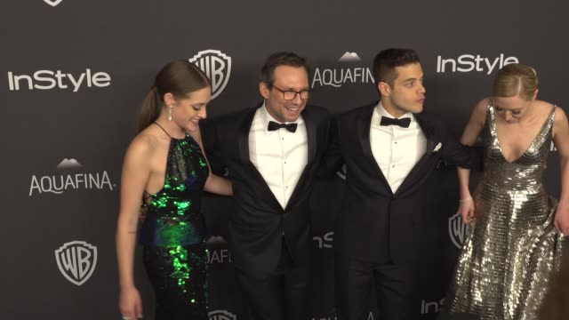 Carly Chaikin Christian Slater Rami Malek and Portia Doubleday at 17th Annual InStyle And Warner Bros Pictures Golden Globe AfterParty at The Beverly...