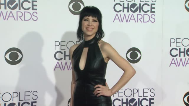 Carly Rae Jepsen at the People's Choice Awards 2016 at Nokia Plaza LA LIVE on January 6 2016 in Los Angeles California