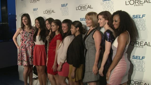 carly rose sonenclar , laura mcewen, jessica greer morris, monique coleman and guests at self magazine's women doing good awards on september 11,... - monique coleman stock videos & royalty-free footage
