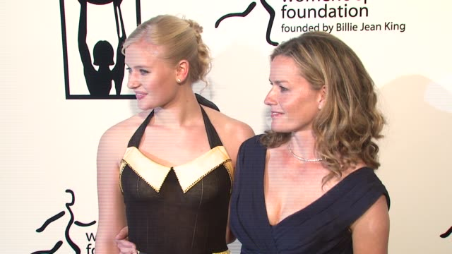 carly schroeder and elisabeth shue at the billies at the international ballroom at the beverly hilton in beverly hills, california on april 11, 2007. - elisabeth shue stock videos & royalty-free footage