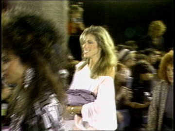 carly simon walking the 1984 mtv video music awards red carpet. - mtv stock videos & royalty-free footage