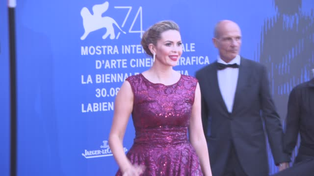 carly steel at franca sozzani award - 74th venice international film festival on september 01, 2017 in venice, italy. - 第74回ベネチア国際映画祭点の映像素材/bロール