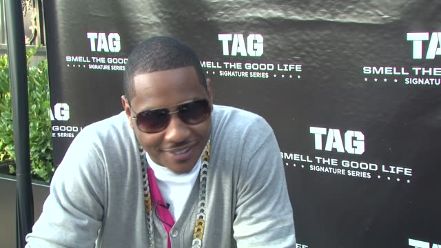Carmelo Anthony on being at the TAG Signature Series launch party on the TAG Signature Series on how he got involved with the Signature Series on why...