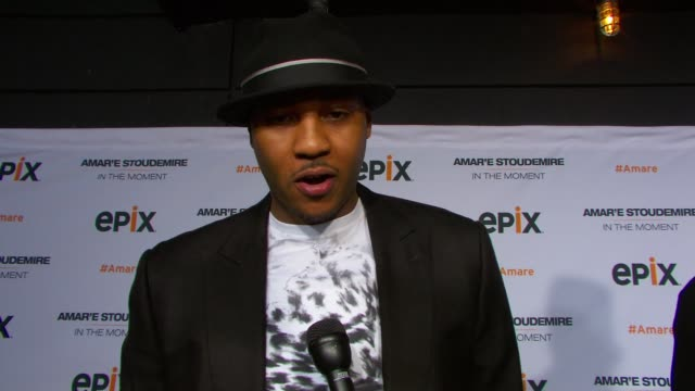 INTERVIEW Carmelo Anthony talks about his favorite Knicks moment on the message in documentary on mother's day his thoughts on the Boston tragedy at...