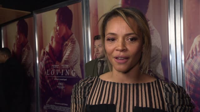 INTERVIEW Carmen Ejogo on why she feels Loving is still a relevant story today and what she hopes the audience take away from the film at Loving New...