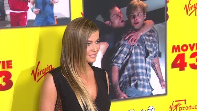 carmen electra at movie 43 los angeles premiere 1/23/2013 in hollywood ca - carmen electra stock videos and b-roll footage