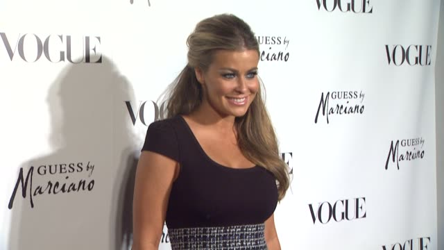 carmen electra at the guess by marciano vogue 2011 holiday collection debut at beverly hills ca - carmen electra stock videos and b-roll footage