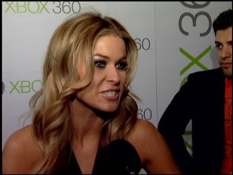 carmen electra at the launch party for xbox's next generation console xbox 360 at a private residence in beverly hills california on november 16 2005 - xbox stock videos & royalty-free footage