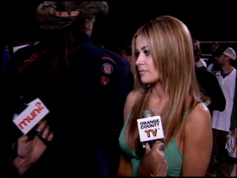 Carmen Electra at the Rockin' the Corps Concert at Camp Pendleton in San Diego California on April 1 2005