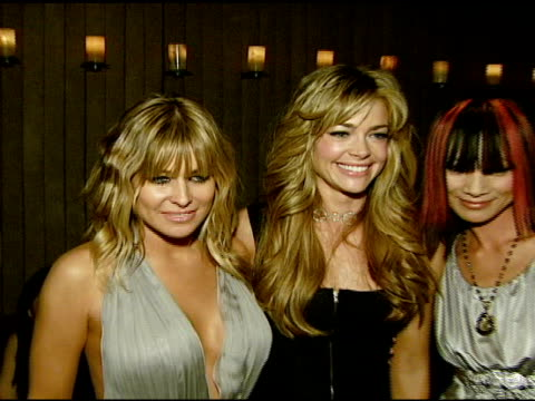 carmen electra denise richards and bai ling at the dr robert rey and bruno schiavi celebrate shapewear launch hosted by carmen electra and denise... - carmen electra stock videos and b-roll footage
