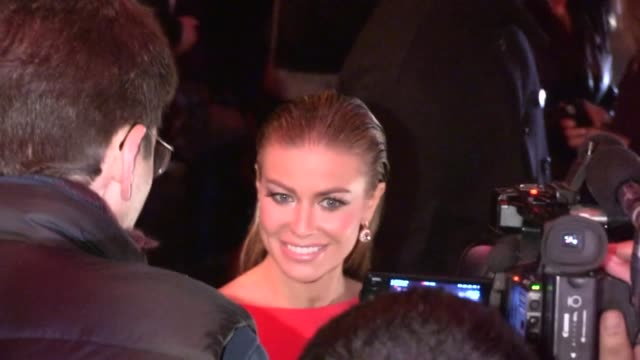 carmen electra departs w magazine pre golden globes party at chateau marmont in west hollywood 01/11/13 - carmen electra stock videos and b-roll footage