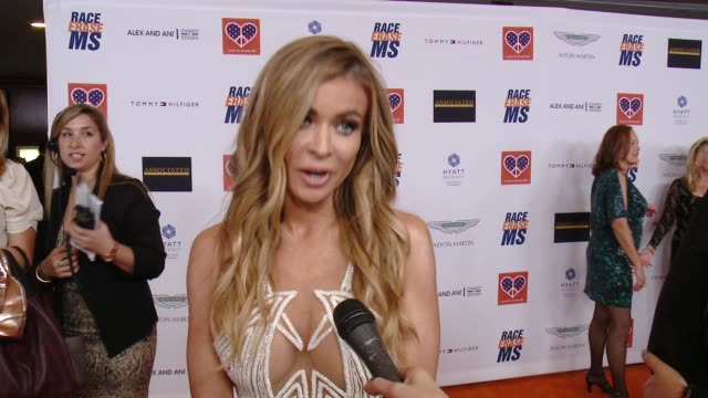 interview carmen electra on being a part of the night what she's most looking forward to at the 22nd annual race to erase ms in los angeles ca - race to erase ms stock videos and b-roll footage