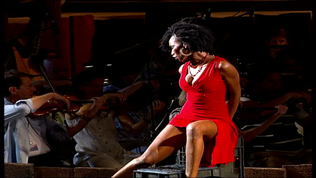 carmen jones opens at the royal festival hall tsakane valentine on stage during rehearsal for the musical 'carmen jones' - royal festival hall stock videos and b-roll footage