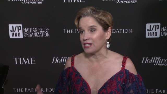interview carmen yulín cruz at sean penn core gala a gala dinner to benefit the organization formerly known as j/p hro and their lifesaving work at... - wiltern theatre stock videos and b-roll footage