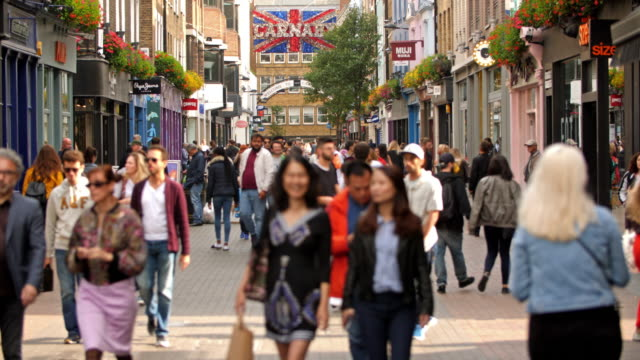 carnaby street london - london england stock videos & royalty-free footage