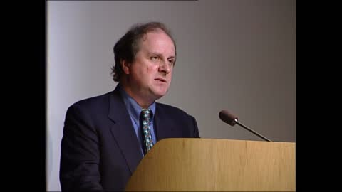 carnegie book awards; part 2 of 2 england: london: british library: int james naughtie speech sot - about his experiences with reading and books /... - james naughtie stock-videos und b-roll-filmmaterial