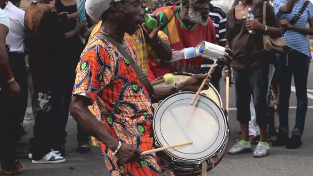 carnival drummer - caribbean stock videos & royalty-free footage