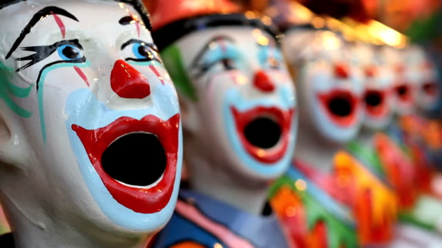 carnival game - clowns - fairground stock videos and b-roll footage