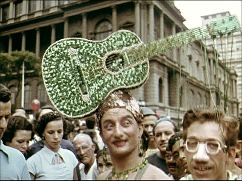 1955 carnival in rio - fancy dress costume stock videos and b-roll footage