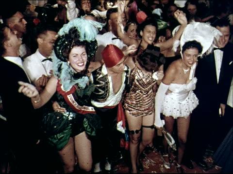 1955 carnival in rio - costume video stock e b–roll