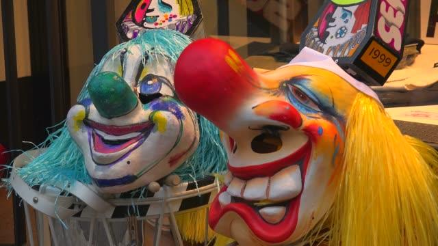 carnival of basel (basler fasnacht), basel, canton of basel city, switzerland, europe - costume video stock e b–roll