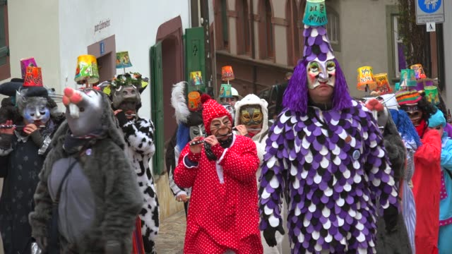 stockvideo's en b-roll-footage met carnival of basel (basler fasnacht), basel, canton of basel city, switzerland, europe - driekwartlengte
