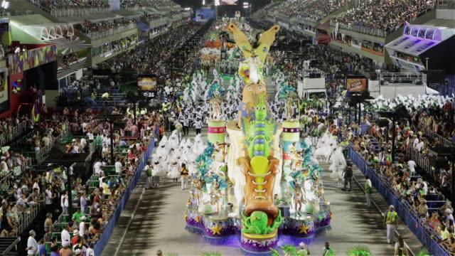 ls, tu, ha carnival parade / rio de janeiro, brazil - parade float stock videos and b-roll footage