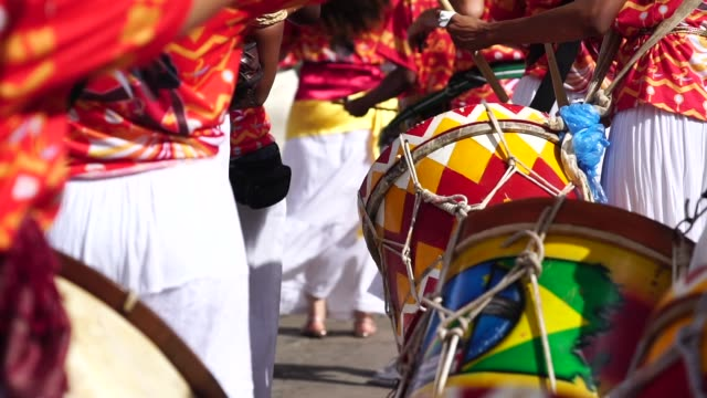 carnival parade - drum percussion instrument stock videos & royalty-free footage
