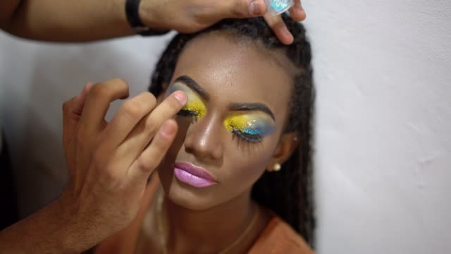carnival professional make-up - mesquita stock videos & royalty-free footage