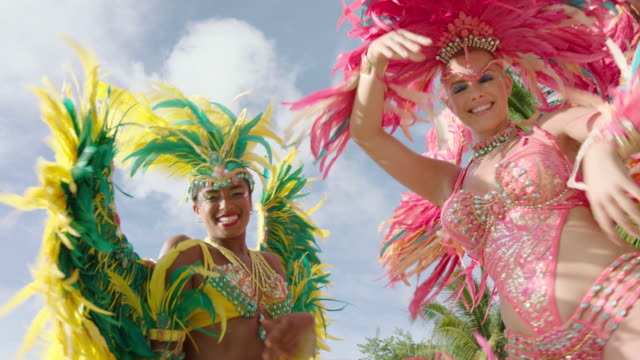 carnival - headdress stock videos and b-roll footage
