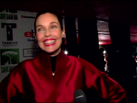 carol alt on her participation in the event, how she got her beautiful dress from joanna mastroianni, having to give the dress back tomorrow, the 18... - fashion industry stock videos & royalty-free footage