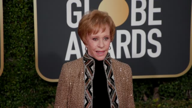 carol burnett at 76th annual golden globe awards arrivals in los angeles ca 1/6/19 4k footage - golden globe awards stock videos & royalty-free footage