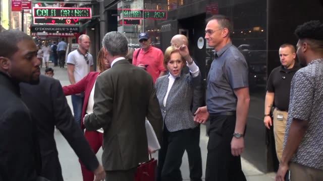 Carol Burnett leaves the Good Morning America show in New York City in Celebrity Sightings in New York