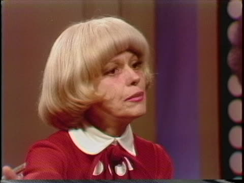 carol channing talks about how musical theater is an amalgamation of everything american during an interview on march 1, 1978. - 1978 stock videos & royalty-free footage