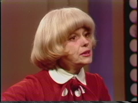 carol channing talks about the longevity of musical theater during an interview on march 1, 1978. - 1978 stock videos & royalty-free footage