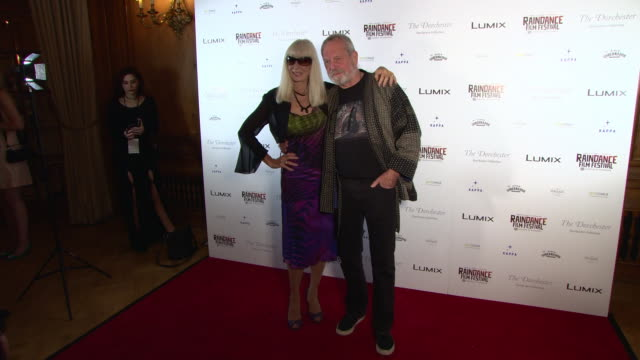 carol cleveland, terry gilliam at raindance film festival - special soiree at the dorchester on august 22, 2018 in london, england. - terry gilliam stock videos & royalty-free footage
