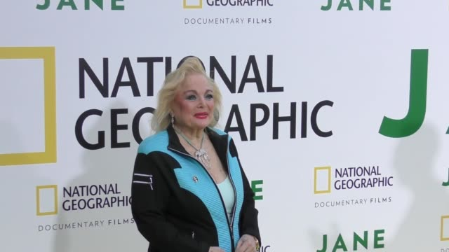 carol connors at the premiere of national geographic documentary films' 'jane' at the hollywood bowl on october 09, 2017 in los angeles, california. - carol connors stock-videos und b-roll-filmmaterial