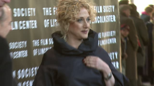 carol kane at the film society of lincoln center tribute to diane keaton at avery fisher hall in new york new york on april 9 2007 - diane keaton stock videos & royalty-free footage
