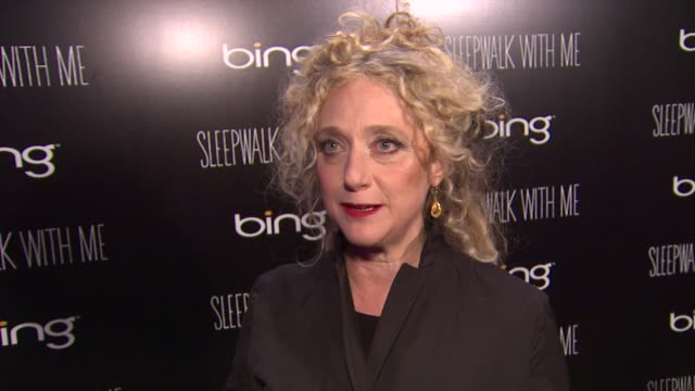 carol kane on seeing old friends at sundance at bing bar sundance 2012 - day 5 in park city, utah, on 1/23/2012 - day 5 stock videos & royalty-free footage
