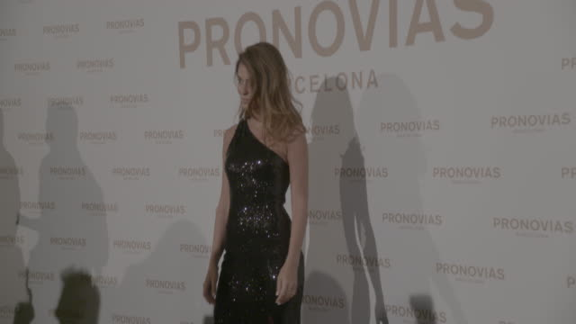 carol simanovich attends pronovias show during barcelona bridal fashion week 2017 held at the museu nacional d'art de catalunya on april 28 2017 in... - photo call stock videos & royalty-free footage