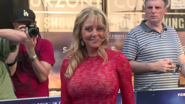 vídeos y material grabado en eventos de stock de carol vorderman at curzon cinema mayfair on july 09 2018 in london england - carol vorderman
