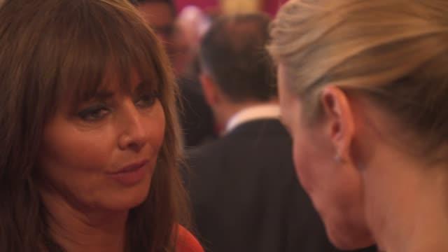 stockvideo's en b-roll-footage met carol vorderman at prince's trust reception at clarence house on june 20 2013 in london england - carol vorderman