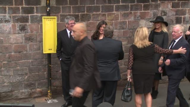 carol vorderman, sir tom jones, bob carolgees, les dennis, mike mccartney, ted robbins at cilla black - funeral on august 20, 2015 in london, england. - carol vorderman stock videos & royalty-free footage