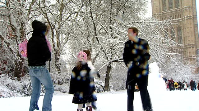 vídeos y material grabado en eventos de stock de carol vorderman to head maths task force for conservative party england london westminster carol vorderman playing in snow with david cameron mp and... - carol vorderman