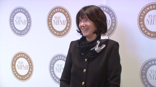 carole a krumland at harold and mimi steinberg charitable trust hosts 2014 steinberg playwright awards at lincoln center theater on november 17 2014... - scriptwriter stock videos and b-roll footage
