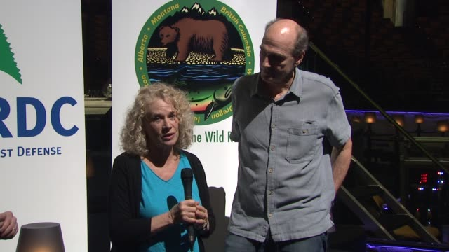 carole king and james taylor on why it is important to support nrdc at the carole king james taylor raise over 13mm donation with... - national resources defense council stock videos & royalty-free footage