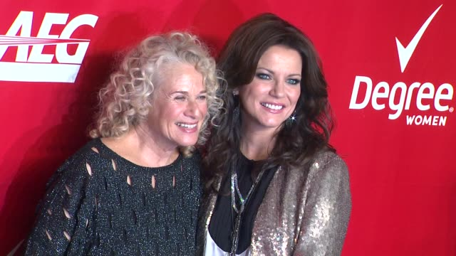 carole king and martina mcbride at 2014 musicares person of the year honoring carole king at los angeles convention center on in los angeles... - musicares foundation stock videos & royalty-free footage